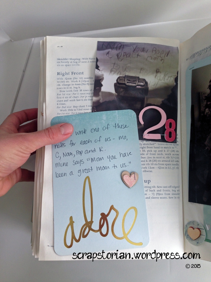 Scrapstorian altered book December Daily day 28