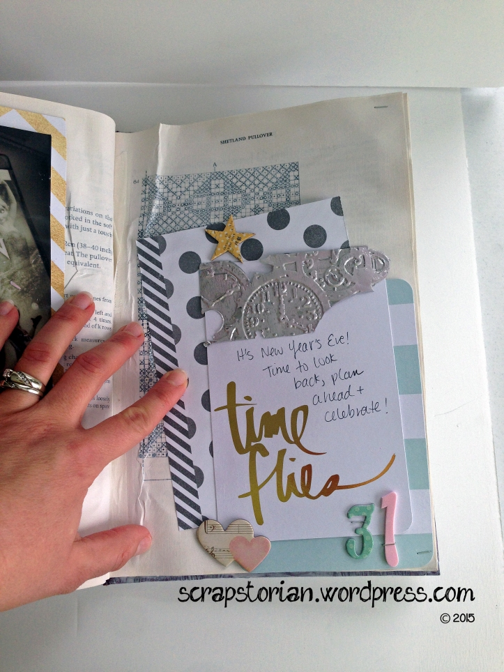 Scrapstorian altered book December Daily day 31