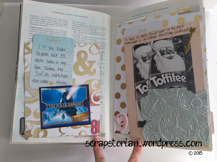 Scrapstorian altered book December Daily day 8